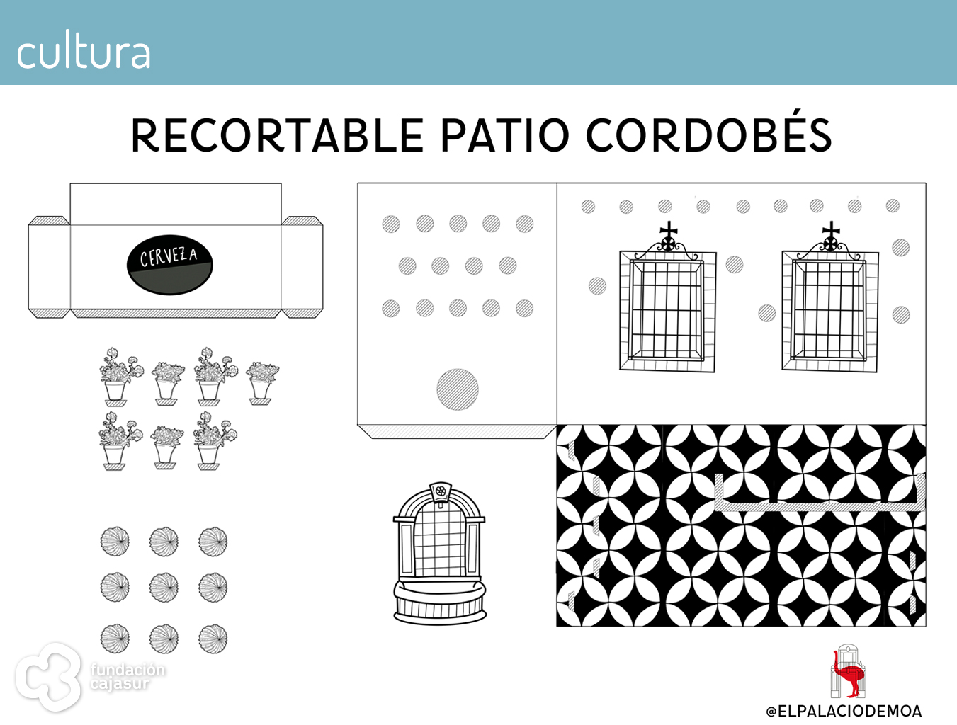 recortable patio cordobés